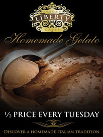 Half Price Gelato on Tuesdays