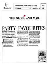 The Globe and Mail - Party Favourites