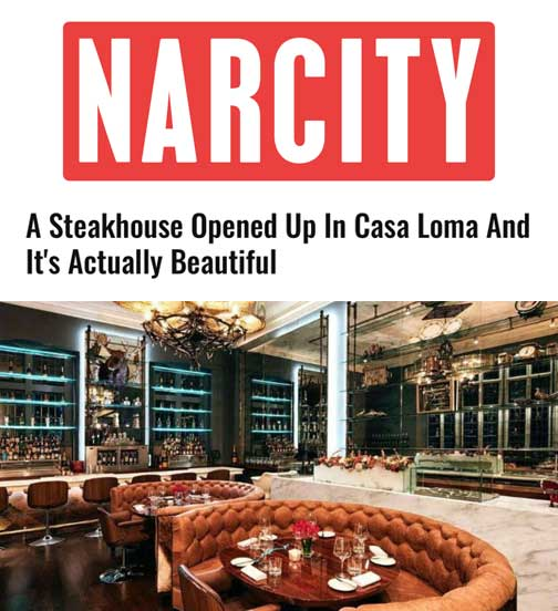 Narcity - 09.17 - A Steakhouse just opened at Casa Loma