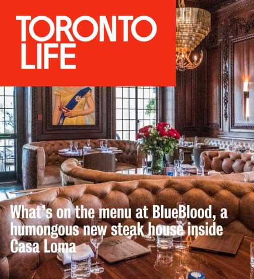 Toronto Life - 10.17 - What's on the menu at BlueBlood