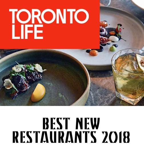 Toronto Life - 03.18 - Best New Restaurants 2018