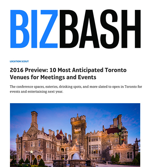 BizBash - 01.16 - 10 Most Anticipated Toronto Venues for Meetings and Events