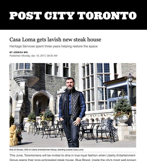 Post City Toronto - 04.17 - Casa Loma Gets Lavish New Steak House
