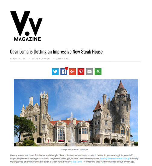 View The Vibe - 03.17 - Casa Loma is Getting an Impressive New Steak House