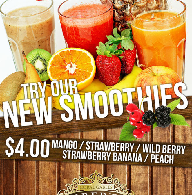 SMOOTHIES $4 EVERYDAY AT LIBERTY CAFFÉ