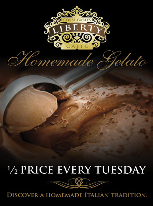 1/2 Price Gelato! Every Tuesday!!
