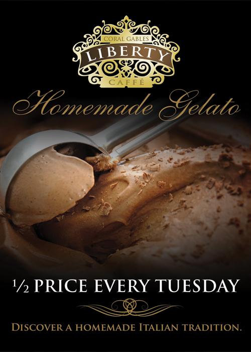 1/2 Price Gelato! Every Tuesday!!