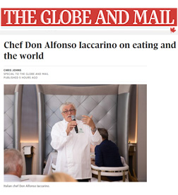 Globe and Mail - Chef Don Alfonso Iaccarino on Eating and Travelling Around the World