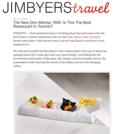 Jim Byers Travel - Don Alfonso 1890 The Best Restaurant In Toronto