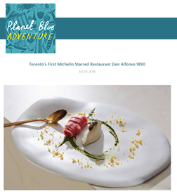 Planet Blue Adventure - Toronto's First Michelin Starred Restaurant Don Alfonso 1890