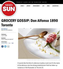 Toronto Sun - Grocery Gossip - Don Alfonso Toronto