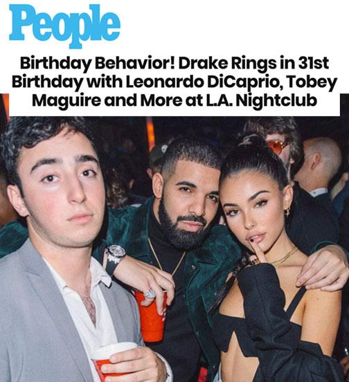 Birthday Behavior! Drake Rings in 31st Birthday with Leonardo DiCaprio