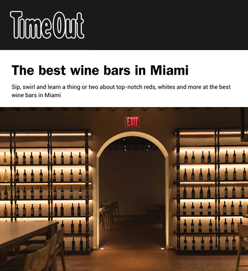 The best wine bars in Miami