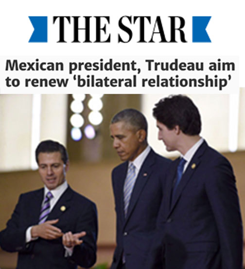 Mexican president, Trudeau aim to renew 'bilateral relationship'