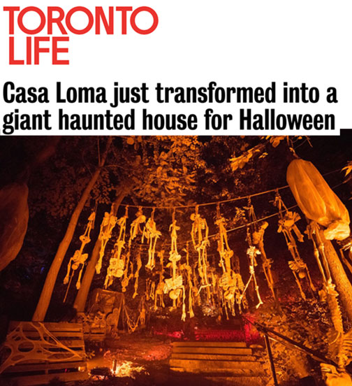 Casa Loma just transformed into a giant haunted house for Halloween