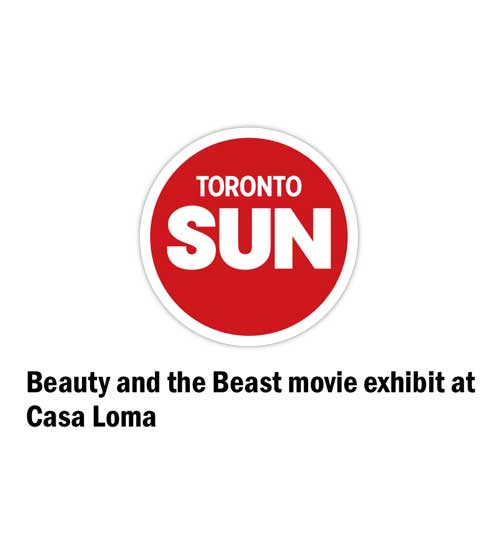 Beauty and the Beast movie exhibit at Casa Loma