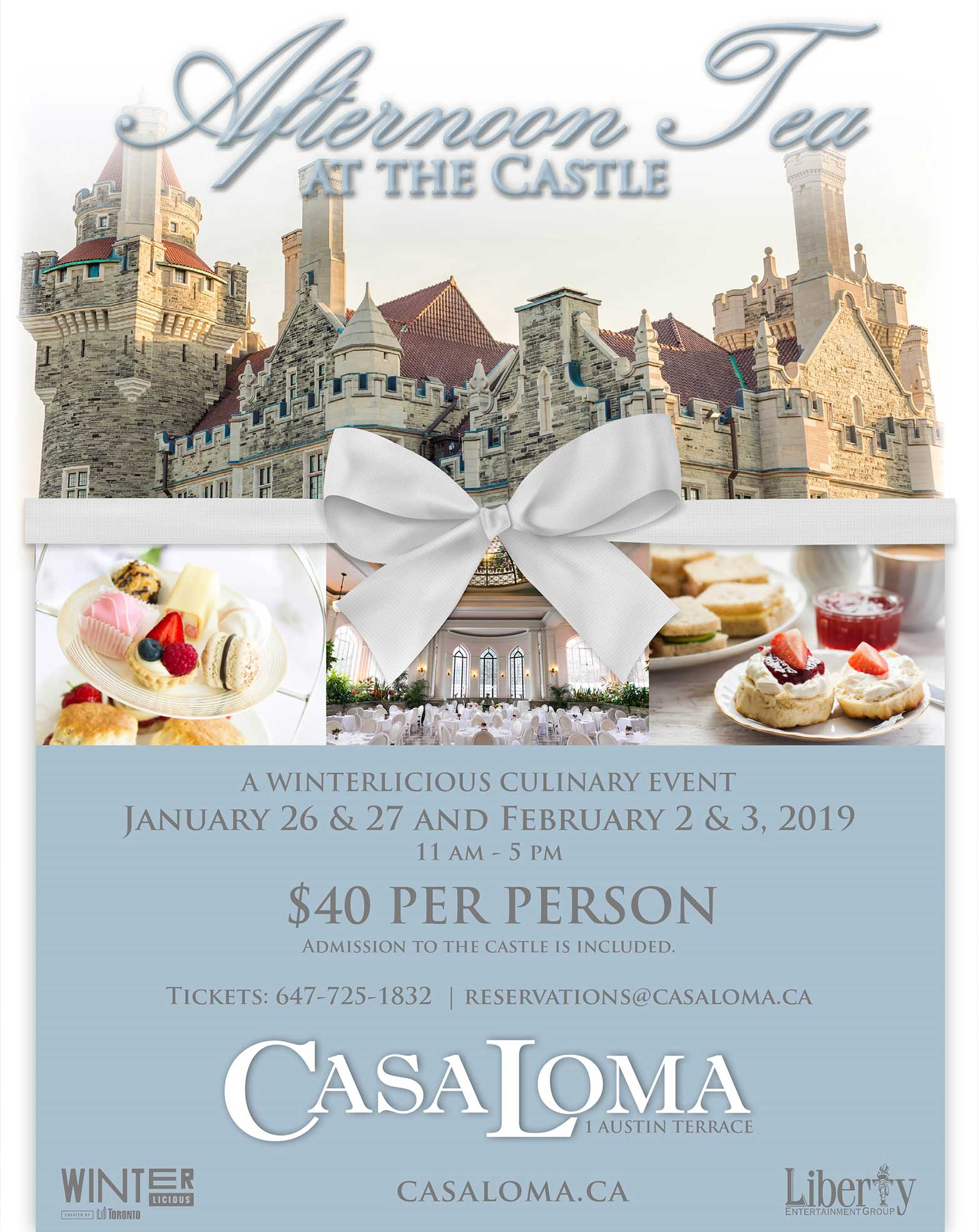 Afternoon Tea  - A Winterlicious Culinary Event