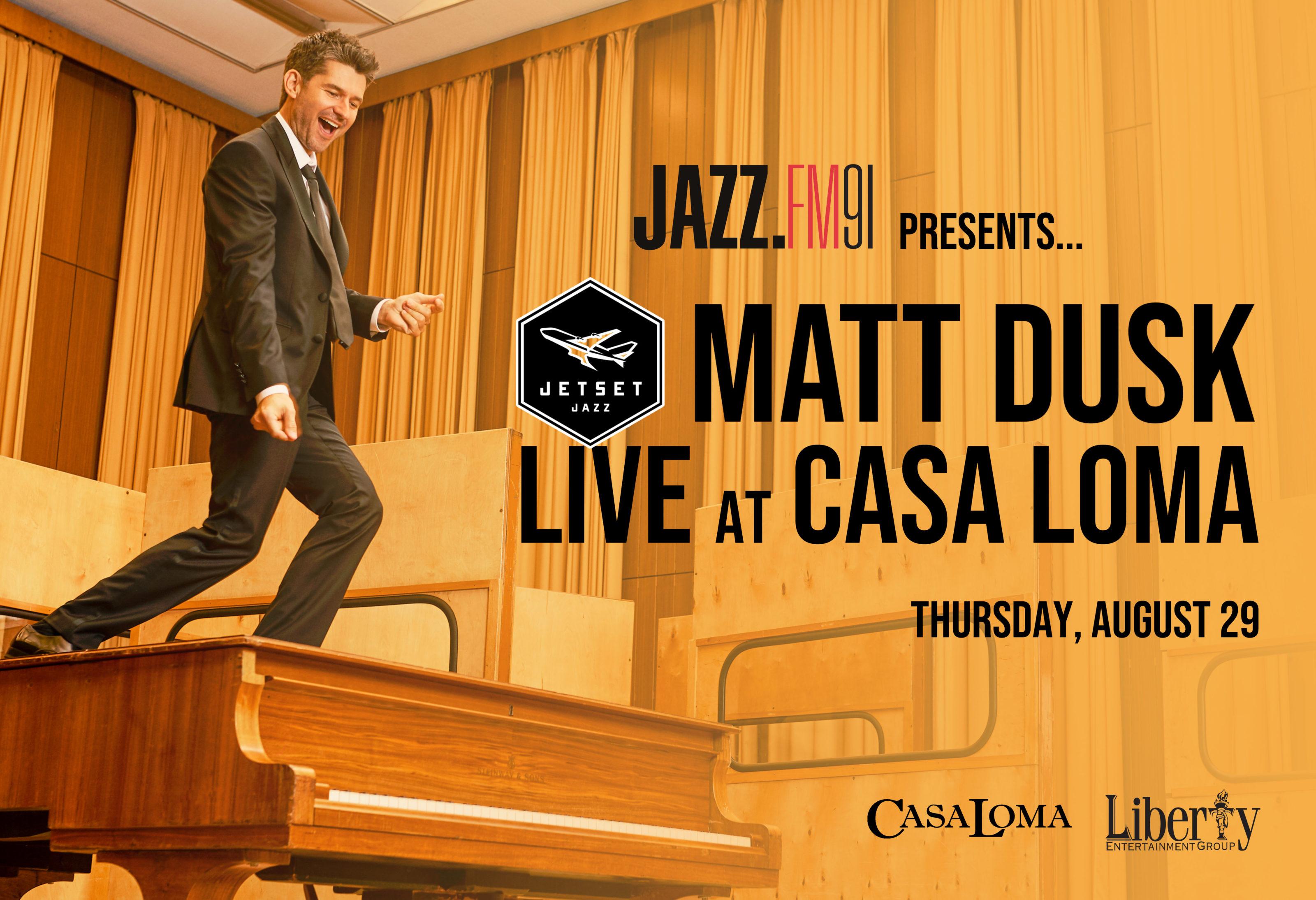 Matt Dusk JSJ Live at Casa Loma Header